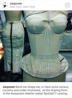 """Zac Posen: """"Bend me shape me, or have some serious corsetry and under structures, on the draping form In the today! Couture Details, Fashion Details, Fashion Design, Clothes Crafts, Sewing Clothes, Couture Sewing Techniques, Sewing Lingerie, Corset Pattern, Provocateur"""