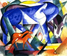 The First Animals. Franz Marc. 1913.