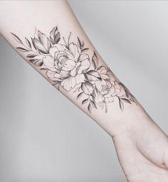 Peony forearm piece by Tritoan Ly