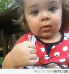 GIF little girl facial expressions