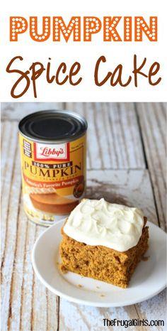 Pumpkin Spice Cake Recipe!