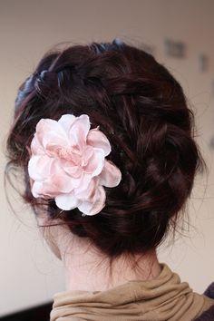 dutch braid flower updo