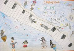 Carnival of the Animals ~ instrument Review  Ideas for several grade levels as well as a video of student work that could be shared with parents on a school website.