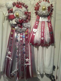 Matching Mum & Garter Texas Homecoming Mums, Homecoming Ideas, Blue Ribbon Award, Garter, 4th Of July Wreath, Crafting, Crafts To Make, Crafts, Handarbeit