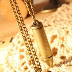 Discount China wholesale Retro Vintage Special Design Bullet Cool Fashion Pendant Necklace Chain [10185] - US$1.49 : chicoffer.com