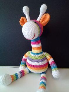 Amigurumi Rainbow Giraffe!