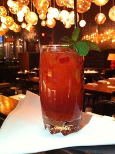 Moderna:  Bacardi, Strawberries, Mint, Lime, and Balsamic Vinegar. Cheers!