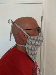 Beard Mask : 26 Steps (with Pictures) - Instructables Mens Face Mask, Easy Face Masks, Diy Face Mask, Bearded Tattooed Men, Bearded Men, Sewing Patterns Free, Free Sewing, Sewing Ideas, Sewing Projects