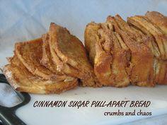 Crumbs and Chaos: Cinnamon Sugar Pull-Apart Bread