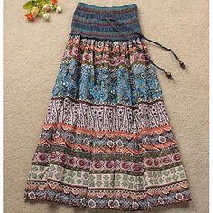 impresión de Bohemia de longitud tobillo falda de las mujeres - EUR € 11.99