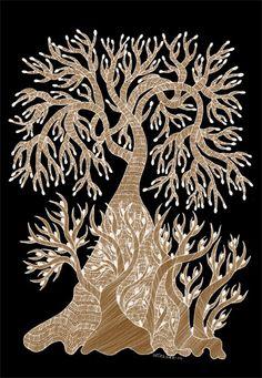 The Creation of Trees. Tara Books. Gond Art.