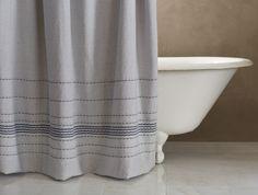 Rippled Stripe Shower Curtain | New | Coyuchi