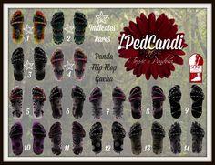 ::Toxxic:: Pandora Panda Flip Flops for Slink Flat feet