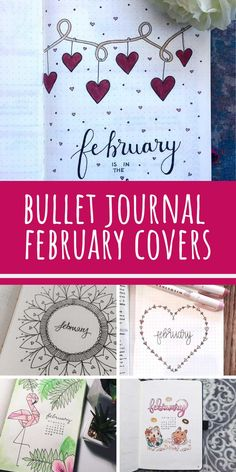 February Bullet Journal Cover Page Ideas {It& not all hearts and flowers!} Last modified on March 2019 > > > February Bullet Journal Cover Page Ideas {It's not all hearts and flowers!}February Bullet Journal C Bullet Journal Tumblr, Bullet Journal Cover Ideas, Bullet Journal Cover Page, Bullet Journal Inspo, Bullet Journal Ideas Pages, Bullet Journal Layout, Journal Covers, Bullet Journal Ideas Templates, Bullet Journal Student