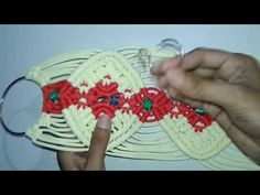 How to make key holder and mobile holder With macrame - YouTube