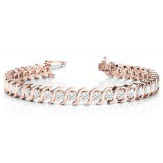 Diamantarmband 1.00 Karat Brillanten, 585 Rosegold