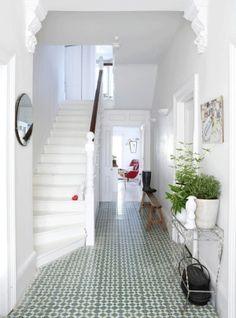 Hallway tiles by Birulove  table arrangement