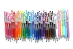Pilot JUICE gel ink pens -- This is a collection of brilliantly colorful pens… Pens And Pencils, Colored Pencils, Pastel Colors, Vivid Colors, Dibujos Zentangle Art, Art Supplies, Office Supplies, Stationary Store, Gel Ink Pens
