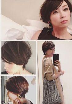 検索(画像) in 2020 Medium Hair Styles, Short Hair Styles, Androgynous Hair, Asian Short Hair, Pixie, Hair Remedies, Style Me, Hair Cuts, Hair Beauty