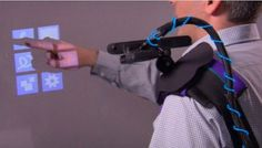 Microsoft wearable, fully interactive multitouch projector