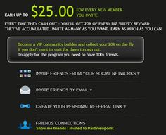 Earn up to $25 for every friend you invite!  ti pagano per rispondere dei questionari ma è in inglese ma è facile iscrivetevi con questo linght