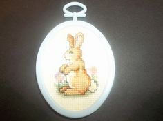 Easter Bunny Cross-Stitch Easter Ornament