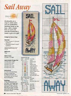 Sail away cross stitch
