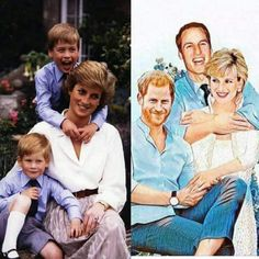 This is beautiful... Princess Diana and her boys