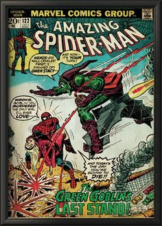 Marvel Comics Retro: The Amazing Spider-Man Comic Book Cover #122, the Green Goblin (aged) Stretched Canvas Print at Art.com