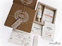 Invitación boda creativa caja vintage
