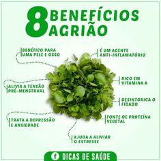 8 benefícios agrião!