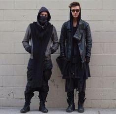 Visions of the Future: Rick Owens Urban Fashion Women, Dark Fashion, Gothic Fashion, Mens Fashion, Dystopian Fashion, Cyberpunk Fashion, Mode Masculine, Rick Owens, Street Style Boho