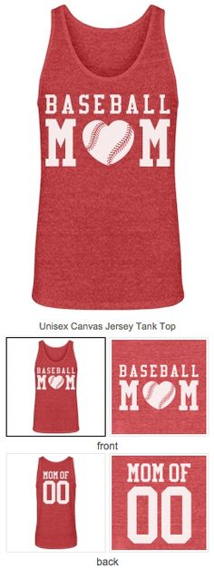 Loose fitting #baseballmom tank top you can personalize for your kids' baseball games and practices. HOME RUN BASEBALL MOMS!