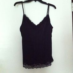 The Limited Black Lace Cami Size Large Brand New! The Limited Black Lace Cami Size Large. New! 100% Polyester The Limited Tops Camisoles