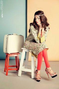 COCO by Zara Shahjahan-14   COCO Summer Kurti Collection 2014 by Zara Shahjahan