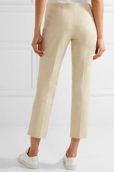 The Row - Nowa Cropped Cotton-blend Straight-leg Pants - Beige - US12