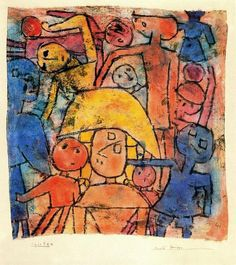 Colourful Group by Paul Klee (1879-1940, Switzerland)