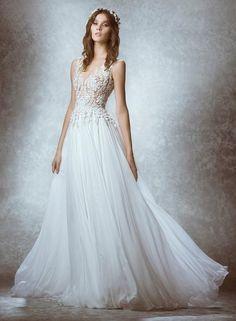 12 chiếc váy cưới ren giúp cô dâu đẹp như thiên thần