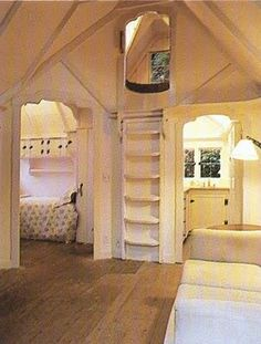 """bedroom with a """"bird's nest"""". omg! I hope there is space in an old victorian home to make this!"""