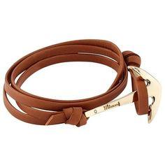 Miansai Leather Wrap Anchor Bracelet (325 BRL) ❤ liked on Polyvore featuring men's fashion, men's jewelry, men's bracelets, mens leather wrap bracelets, mens leather bracelets, mens nautical bracelets and mens anchor bracelets