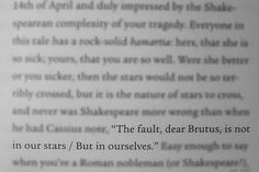 The Fault in Our Stars: In Which Hazel Grace Lancaster and Augustus Waters Disprove Shakespeare