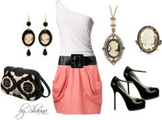 """""""Crazy for Cameo with this adorable pocket skirt"""" by shauna-rogers ❤ liked on Polyvore"""