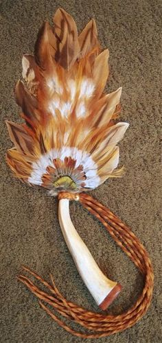 native pheasant feather smudge fan
