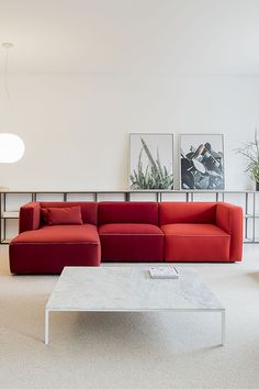 The Dado sofa organizes space. At home is a warm and comfortable element that you can mix and match. Chair Design, Furniture Design, Modular Sofa, House Rooms, Foot Rest, Contemporary Design, Minimalism, Upholstery, Chairs