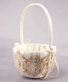 vintage flower girl basket  $63.98, vintage wedding decorations, vintage wedding accessories