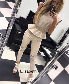 By Alina Donna Overall Jumpsuit Jeans tuta Onepiece Catsuit Print Icon XS-M