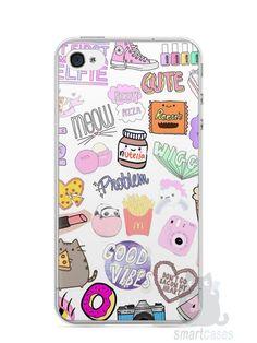 Capa Iphone 4/S Coisas de Menina - SmartCases - Acessórios para celulares e tablets :)