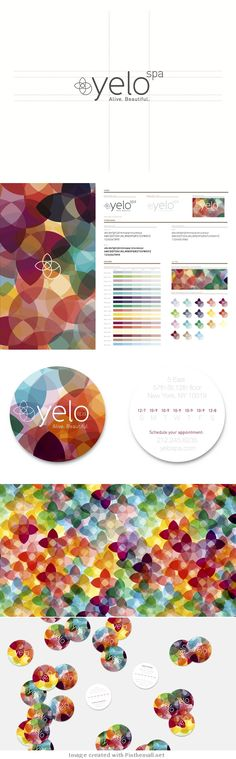 Yelo Spa | brand identity... - a grouped images pin by Pinthemall.net - Pin Them All