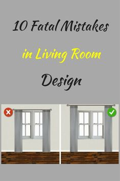 10 Fatal Mistakes in Living Room Design