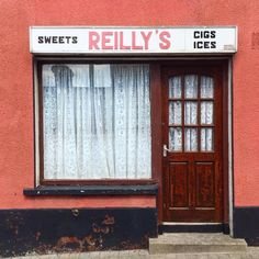 Photographing the colors and typography of traditional Irish shops. Fosse Commune, Wexford Town, Irish Store, Old Irish, Shop Buildings, Irish Culture, Atlas, Shop Fronts, Irish Traditions